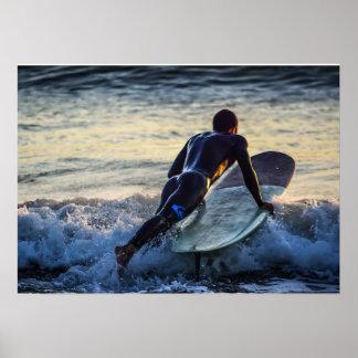 Surfer Series - Spash! Poster