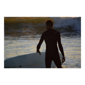 Surfer Series - Sunrise Surfer Poster