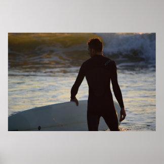 Surfer Series - Sunrise Surfer Poster