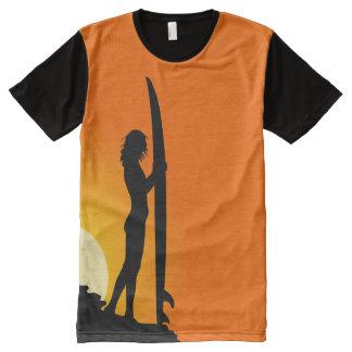 Surfer Shirt Orange and Black