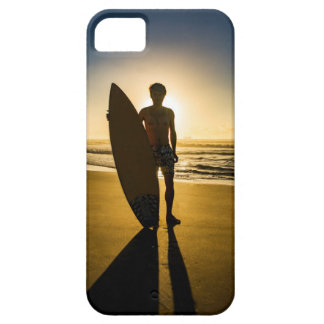 Surfer silhouette during sunrise iPhone 5 case
