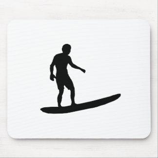Surfer Silhouette Mousepads