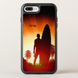 Surfer Sunset custom monogram phone cases