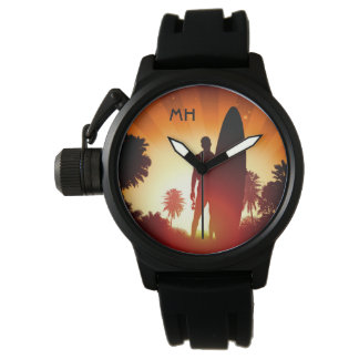 Surfer Sunset custom monogram watches