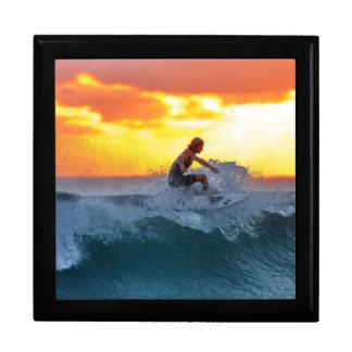 Surfer sunset indian ocean gift box
