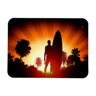 Surfer Sunset magnet