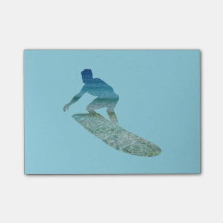 Surfer Surfboarding Ocean Abstract Post-It Notes