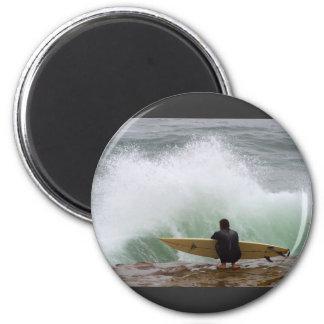 Surfer Surfing Magnet