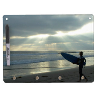 Surfer Surfing Ocean Beach Waves Sea California Dry-Erase Boards
