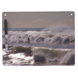 Surfer Surfing Ocean Beach Waves Sea California Dry Erase Whiteboard