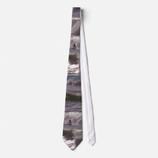 Surfer Surfing Ocean Beach Waves Sea California Tie