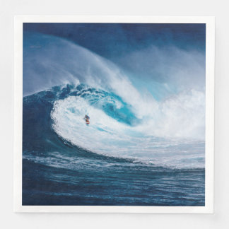 Surfer Surfing Ocean Waves Water Sports Napkins Disposable Napkins