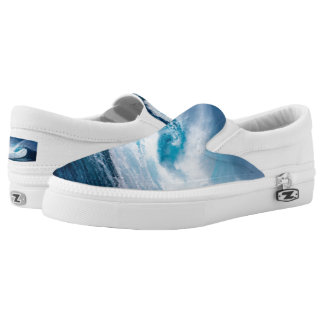 Surfer Surfing Ocean Waves Zipz Slip-On Shoes