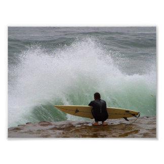 Surfer Surfing Poster