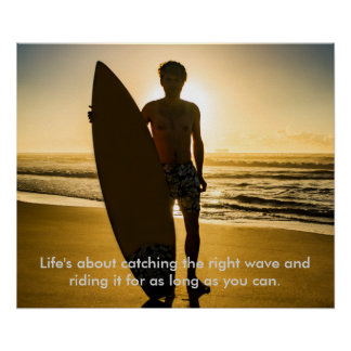 Surfer wit quote poster