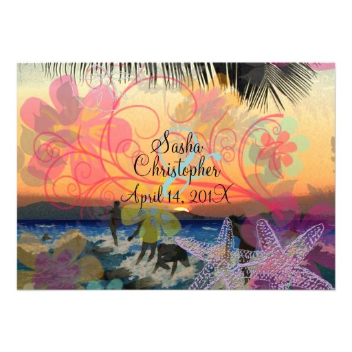 Surfers at Sunset/all occasions Invitations