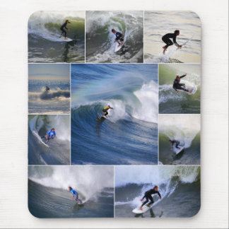 Surfers Collage Vertical Mousepad