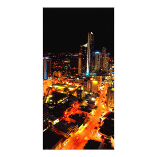 Surfers Paradise Gold Coast Australia City Lights Photo Card Template