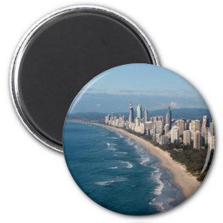 Surfers Paradise Gold Coast Queensland Australia 6 Cm Round Magnet