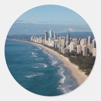 Surfers Paradise Gold Coast Queensland Australia Round Sticker