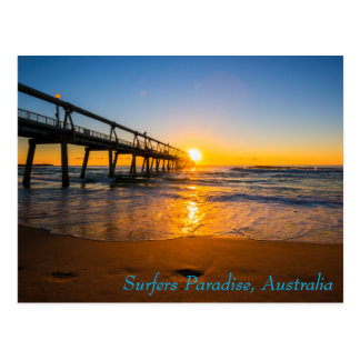 Surfers Paradise Jetty at Sunrise Postcard