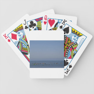 surfers waiting a wave bicycle playing cards