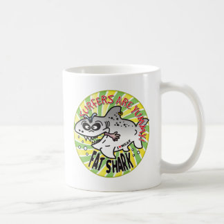 Surfers Yummy Fat Shark Coffee Mug
