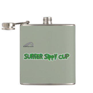 SURFESTEEM brand Flask. SURFER SIppY cup Hip Flask