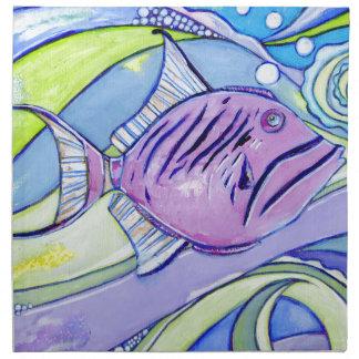 Surfin Fish Napkin