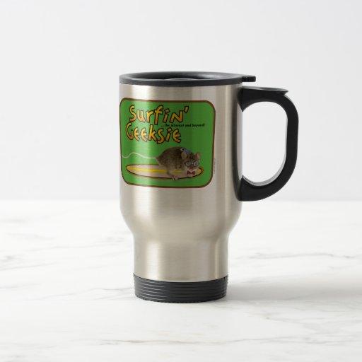 Surfin' Geeksie Stainless Steel Travel/Commuter Mu Coffee Mug