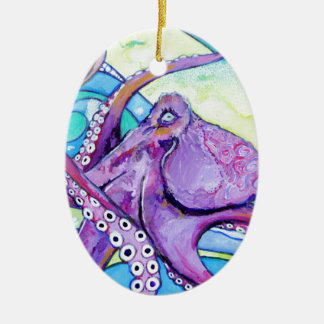 Surfin Octopus Ceramic Ornament