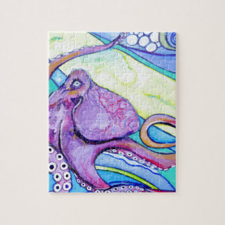 Surfin Octopus Jigsaw Puzzle