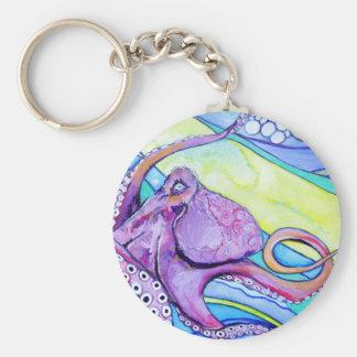 Surfin Octopus Key Ring