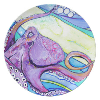 Surfin Octopus Plate