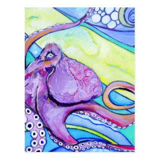 Surfin Octopus Postcard