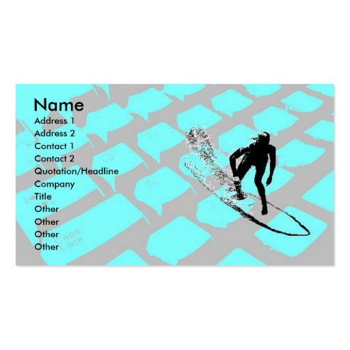 Surfin The Net Profile Card Business Card Templates