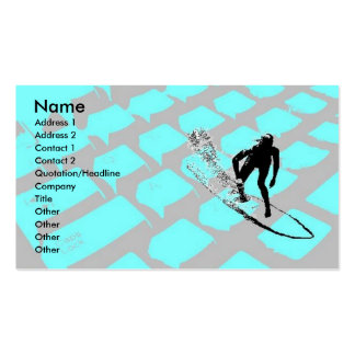Surfin The Net Profile Card Pack Of Standard Business Cards