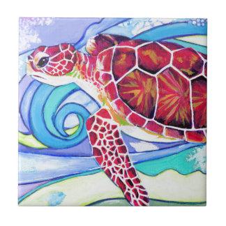 Surfin' Turtle Ceramic Tile