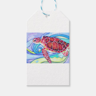 Surfin' Turtle Gift Tags