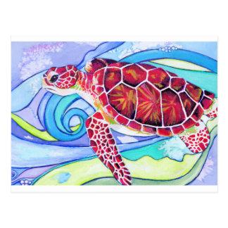 Surfin' Turtle Postcard