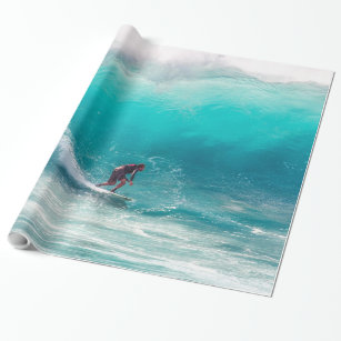 Surfing 16 Wrapping Paper