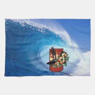 Surfing 3 Kitchen Towels