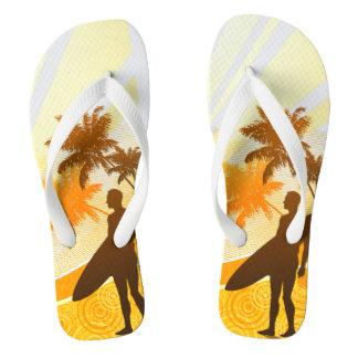 Surfing 7 Flip Flops