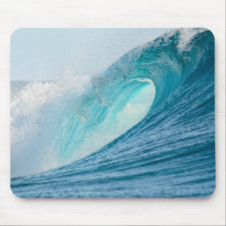 Surfing barrel wave breaking mousepad