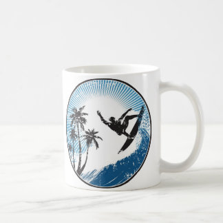 Surfing Basic White Mug