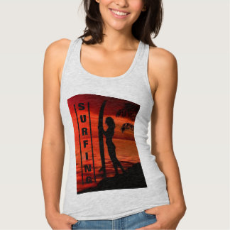 Surfing Beach Culture Singlet