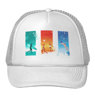 Surfing, Beach Volleyball, Swimming For Summer Fun Cap