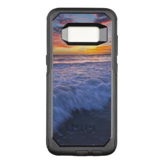 Surfing beach waves at sunset OtterBox commuter samsung galaxy s8 case
