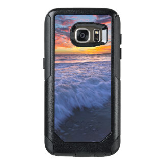 Surfing beach waves at sunset OtterBox samsung galaxy s7 case