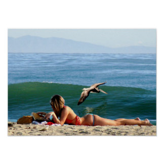 surfing beauty poster